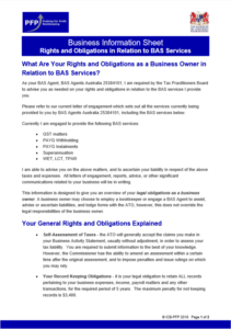Rights and Obligations as a Business Owner in relation to BAS Services