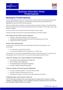 Allowing for Private Expenses