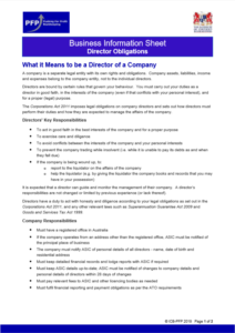Company Director Obligations