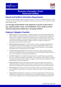 Payroll and FairWork Information Requirements