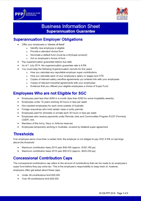 Superannuation Employer Obligations